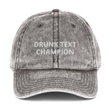 "Load image into Gallery viewer, "" TEXT CHAMPION"" Twill Vintage Cotton Cap"