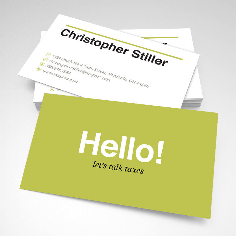 Tax Consultant Business Card | test
