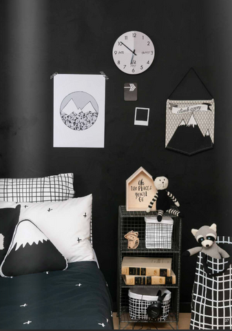 monochrome rooms
