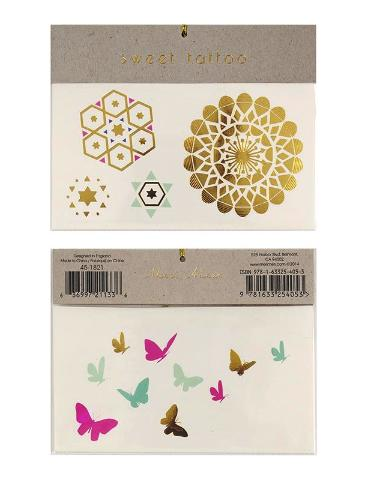 Butterflies & Patterns Meri Meri Temporary Tattoos