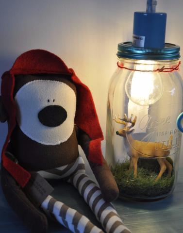 Young Stag Night Light Jar