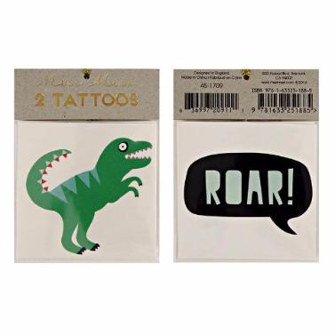 """Dino/Roar"" Meri Meri Temporary Tattoos"