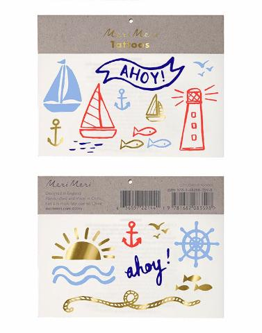 Nautical Meri Meri Temporary Tattoos