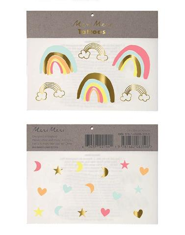 Neon Rainbows Meri Meri Temporary Tattoos