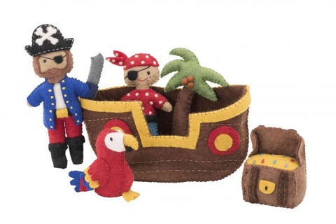 Pashom: Pirate Ship Felt Play Set