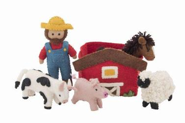 Pashom: Farmyard Felt Play Set