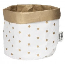 Gold Dot Washable Paper Bag