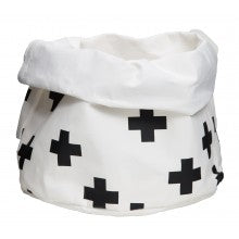 Black Crosses Washable Paper Bag