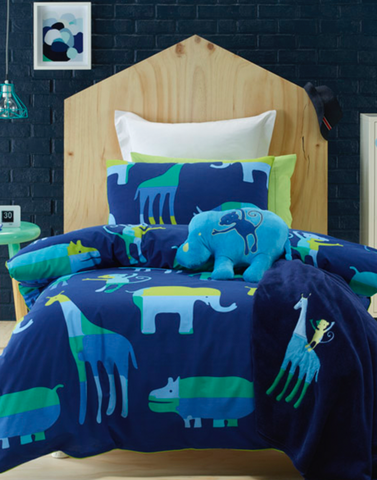Animal patch duvet cover set