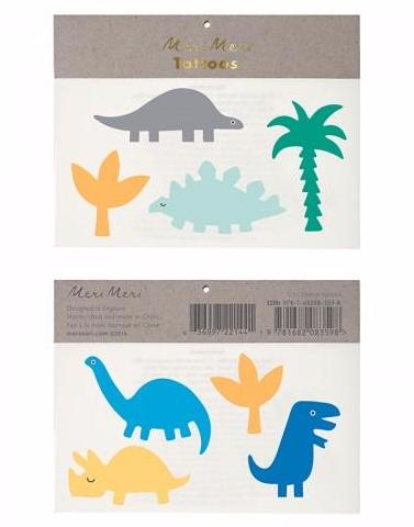 Dinosaurs & Trees Meri Meri Temporary Tattoos