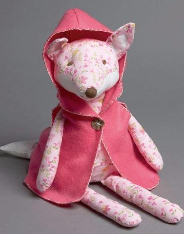 Forest Friends FOX with hot pink cape.