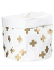 Gold Crosses Washable Paper Bag Large