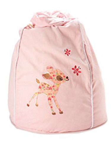 Light pink baby deer bean bag