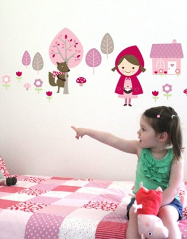 The little red wall stickers