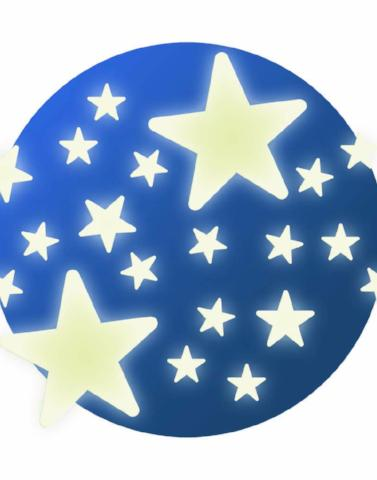 Stars - Glow in the dark wall/ceiling stickers