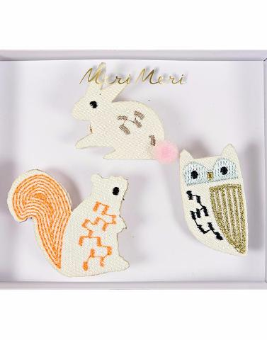 Woodland Creatures Brooches by Meri Meri