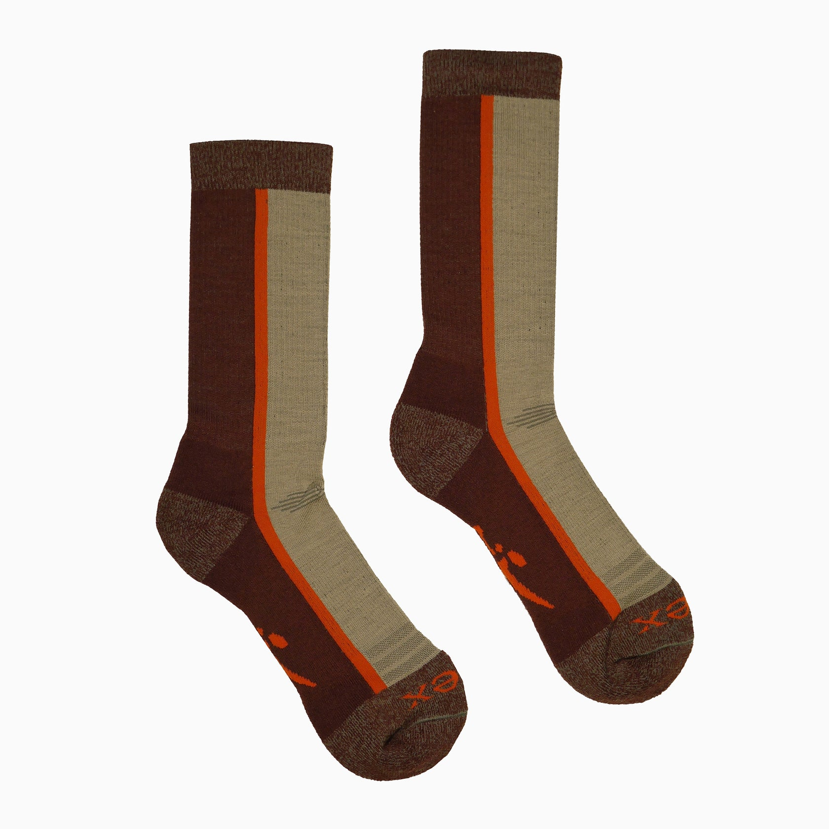 Hiker Sock; Color: Napa/Flare; Background: Grey
