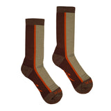 Hiker Sock; Color: Napa/Flare; Background: White; Featured: Secondary