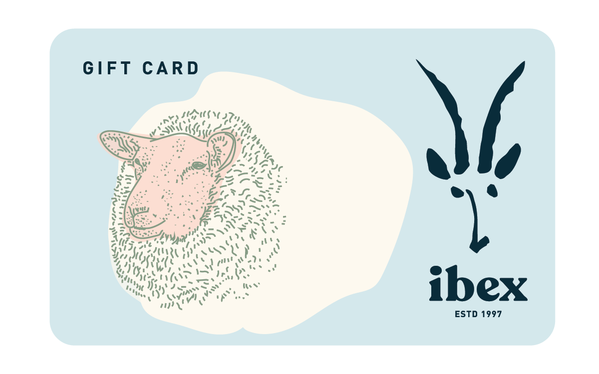 Ibex Gift Card; Background: Grey; Featured: Primary