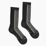 Hiker Sock; Color: Black/Pewter Heather; Background: Grey