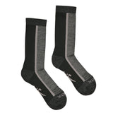 Hiker Sock; Color: Black/Pewter Heather; Background: White; Featured: Secondary