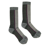 Hiker Sock; Color: Pewter Heather/Dahlia; Background: White; Featured: Primary