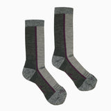 Hiker Sock; Color: Pewter Heather/Dahlia; Background: Grey