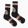 Hiker Warm Crew Socks; Color: Black | Khaki | Red; Background: Grey