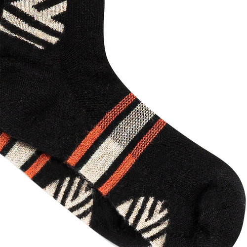 Hiker Warm Crew Socks; Color: Black | Khaki | Red; Background: White; Featured: Secondary