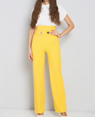 Katie High Waist Palazzo Trouser - Endynelboutique