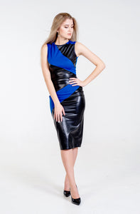 Kimberley  Wet Look Midi bandage Dress - Endynelboutique