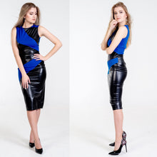 Load image into Gallery viewer, Kimberley  Wet Look Midi bandage Dress - Endynelboutique
