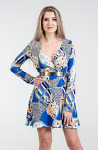 Load image into Gallery viewer, Kylie Front Wrap Crepe Dress - Endynelboutique