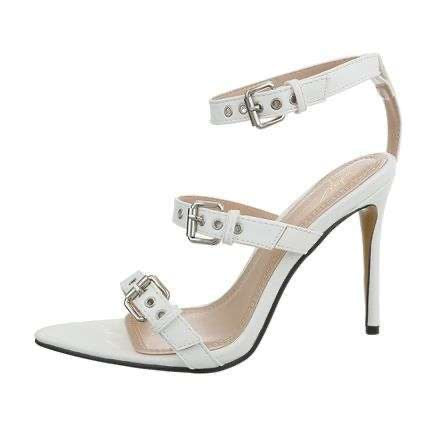 Lisa White High Heel Sandals - Endynelboutique