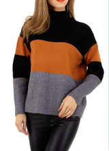 Load image into Gallery viewer, Cozy multi color block sweater - Endynelboutique