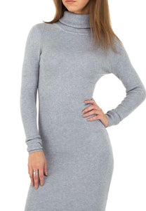 Rib-Knit Bodycon Sweater Dress - Endynelboutique