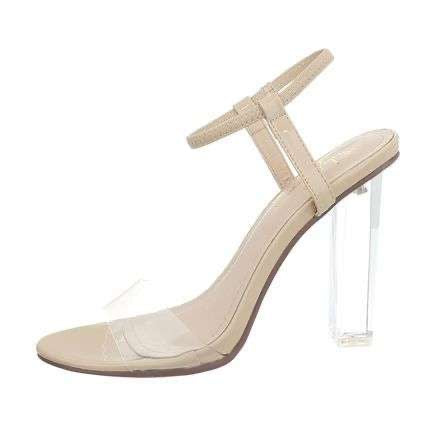 KRIS CHUNKY TRANSPARENT CLEAR SANDALS - Endynelboutique