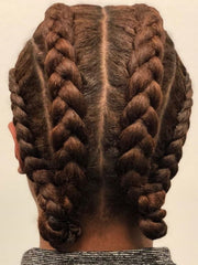 Cornrows with space buns