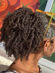 Low puff with side part | Natural hairstyle