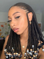 Braids with beads | Protective style