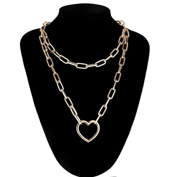 Chain Heart Necklace - VICVI