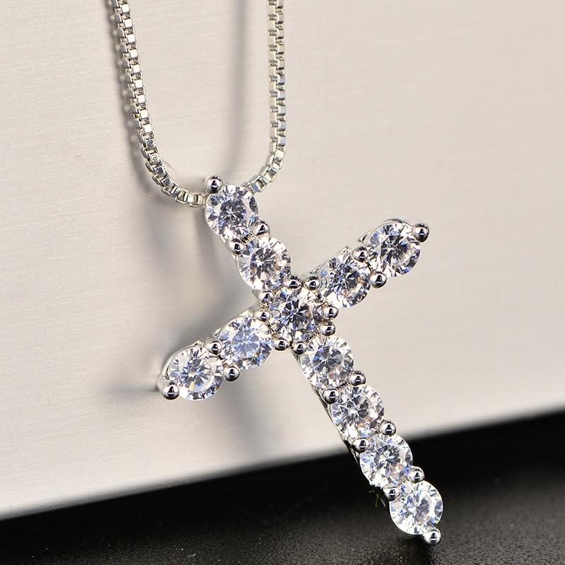 Crystal Cross Necklace - VICVI