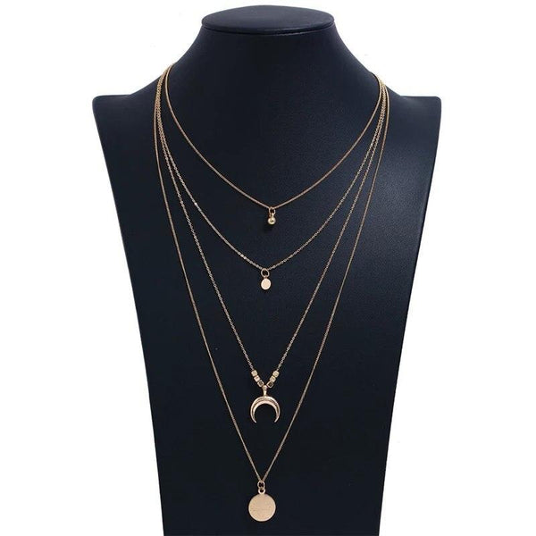 Lune de Crystal Layered Necklace - VICVI