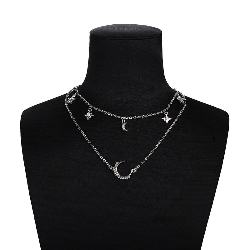 Moon Crystal Layered Necklace - VICVI