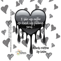 black soul- coffee lip balm