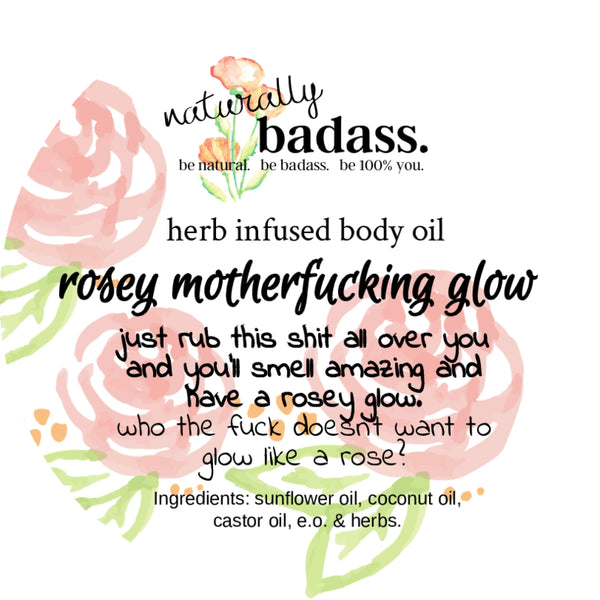 rosey glow body oil