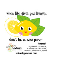 don't be a sourpuss lip balm