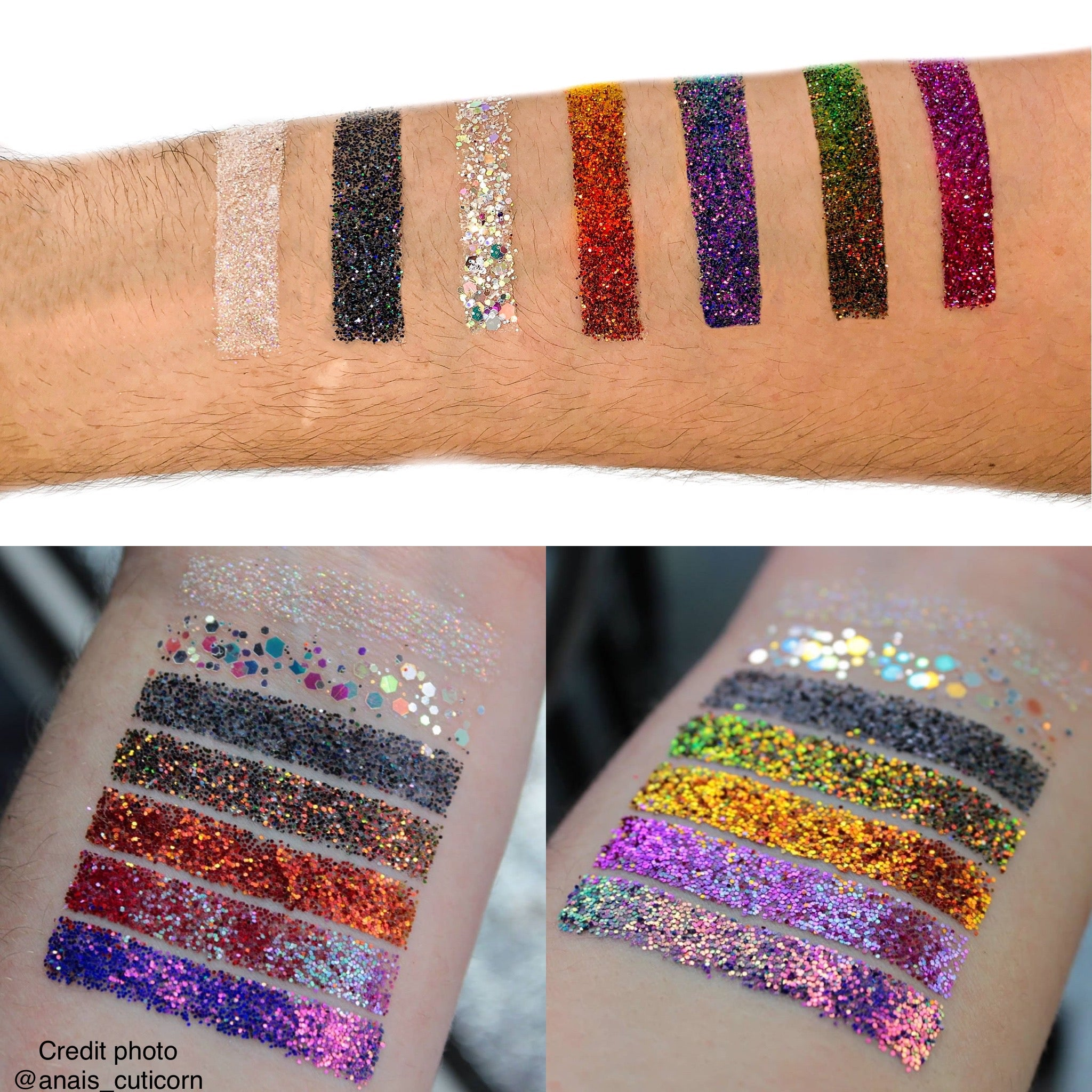 swatch multiple paillettes, chrome , holographique, miroire noje beauty