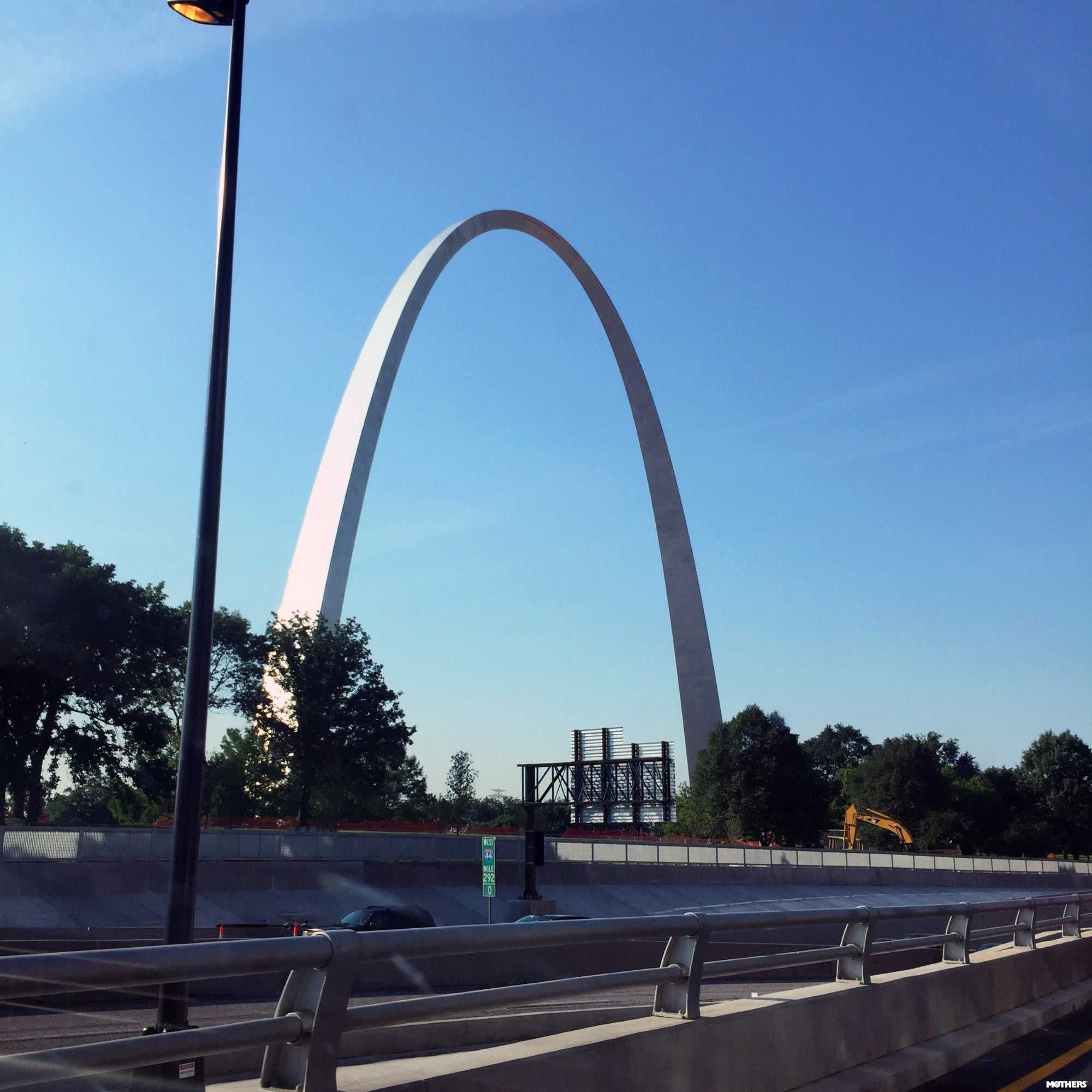 architectural arch in a city