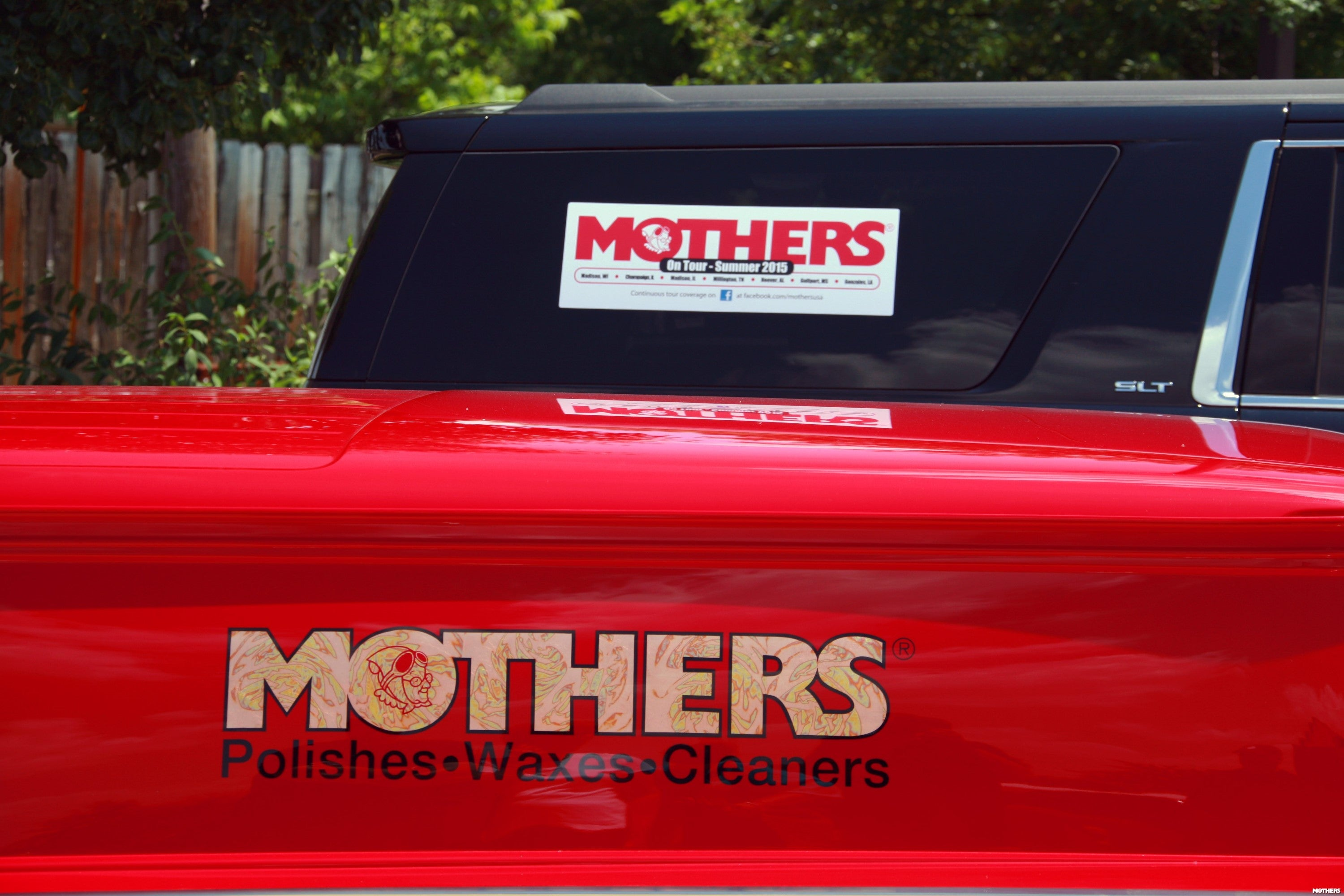 branded Mothers vehicle